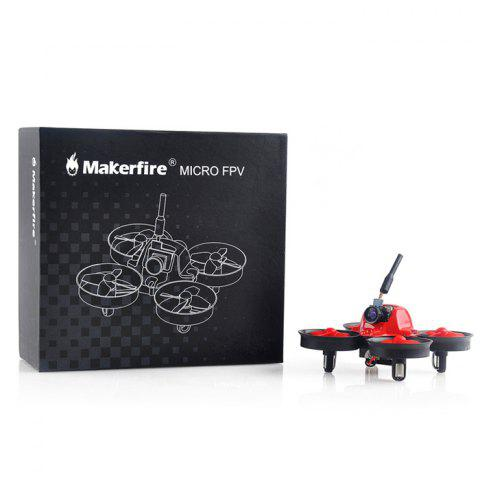 Unique Makerfire MICRO FPV 64mm Mini RC Racing Drone BNF 5.8G 520TVL 2.4GHz 6-axis Gyro with F3 EVO FC Ducted Fan -   Mobile