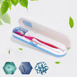 AT-08 Portable UV Toothbrush Sterilizer Oral Care Sanitizer Cleaner - BLUE/WHITE