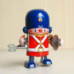 Clockwork Wind Up Robot Walking Tin Rétro Vintage Mechanical Kid Toy - Multicolore