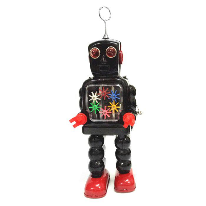 Clockwork Spring Walking Gear Robot Retro Mechanical Toy Christmas Gift Multicolore
