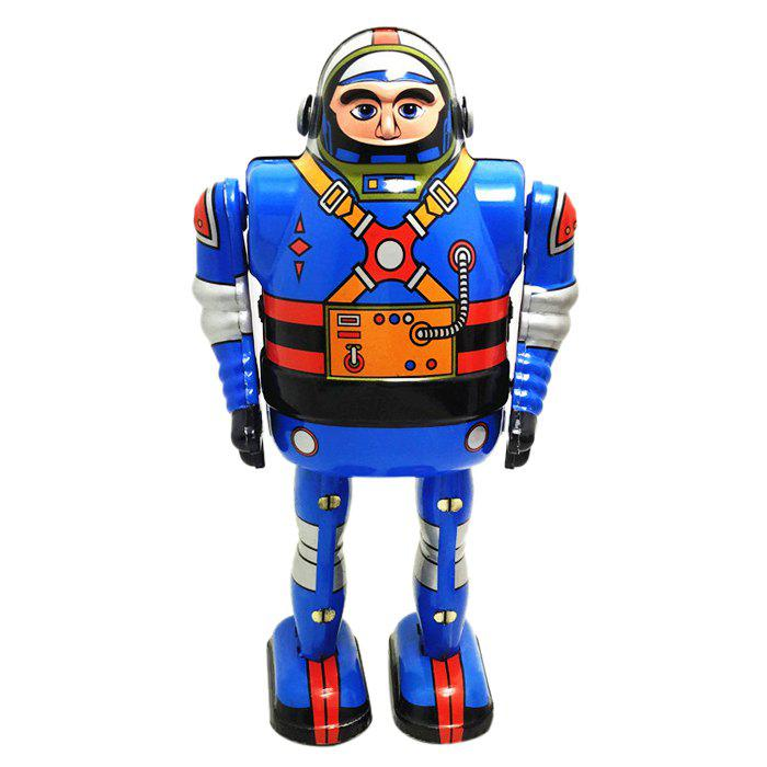 Vintage Electric Robot Mechanical Rotate Walking Model Tin Toy Kids Adults Gifts