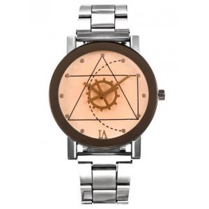 Geometric Gear Dial Stainless Steel Watch