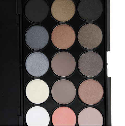 Chic Natural 15 Colors Long Lasting Pearly Eyeshadow Palette - JET BLACK 01#  Mobile