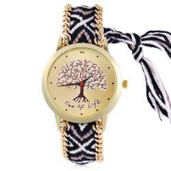 Bohemian Life Tree Braid Bracelet Watch