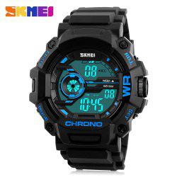 SKMEI 1233 EL Backlight Alarm Sports Watch with 50M Waterproof for Men -