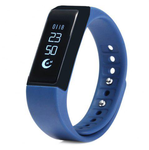 Shop I5 Plus Smart Bracelet IP65 Bluetooth 4.0 Watch Wristband Sleep Monitoring Sports Tracking Remote Camera BLUE