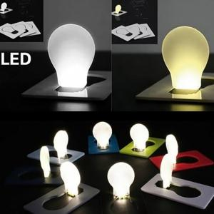 Amazing Pocket LED Card Light Mini Wallet Folding Lamp Portable Small Bulb Gadget - RANDOM COLOR