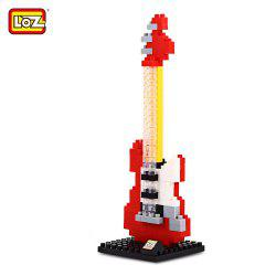 LOZ M - 9192 Mini Building Block Red Electric Guitar Intelligent Toy 150Pcs / Set