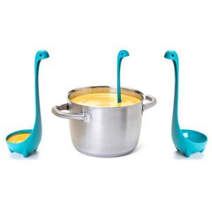 Lovely PP Material Loch Ness Monster Style Ladle Soup Spoon Easy Kitchen Tool - Lake Blue