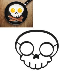 Silicone Skull Shape Style Egg Frying Mould Frying Pancake Mold Breakfast Mould for Kitchen Picnic DIY Helper -