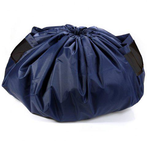 150cm Large Size Baby Portable Toy Storage Bag Drawstring Tether Pouch - Deep Blue