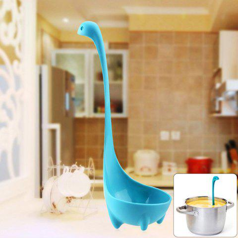 Unique Lovely PP Material Loch Ness Monster Style Ladle Soup Spoon Easy Kitchen Tool - LAKE BLUE  Mobile