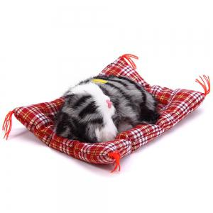 Simulation Animal Sleeping Cat Craft Toy with Sound - TEAL PRINTING
