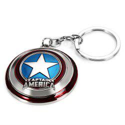 Portable The Avengers-Captain America Style Metal Key Chain Cool Props - SILVER