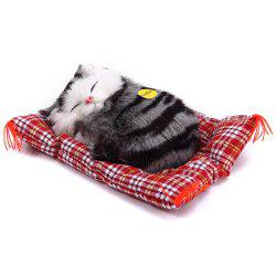 Simulation Animal Sleeping Cat Craft Toy with Sound