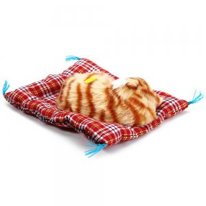 Simulation Animal Sleeping Cat Craft Toy with Sound -