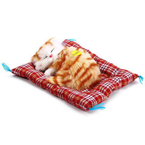 Trendy Simulation Animal Sleeping Cat Craft Toy with Sound