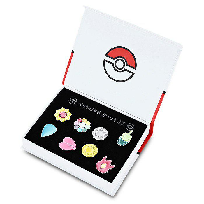 Alloy Badge Movie Product Children Gift Decoration - 8pcs / setHOME<br><br>Size: STYLE E; Color: COLORMIX; Materials: Metal; Theme: Movie and TV; Gender: Unisex; Completeness: Finished Goods; Stem From: Japan;