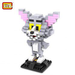 LOZ 290Pcs L - 9445 Tom and Jerry Cat Figure Building Block Educational DIY Toy -
