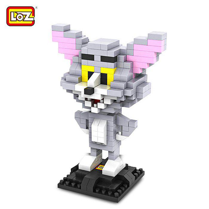 Affordable LOZ 290Pcs L - 9445 Tom and Jerry Cat Figure Building Block Educational DIY Toy