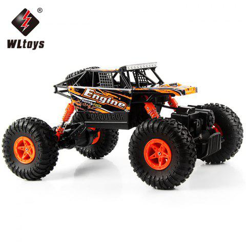 Latest WLtoys 18428 - B 1:18 4WD RC Climbing Car 2.4GHz 4CH 9km/h Proportional Controlled All Terrain Vehicle ORANGE
