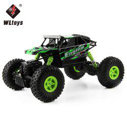 WLtoys 18428 - B 1:18 4WD RC Climbing Car 2.4GHz 4CH 9km/h Proportional Controlled All Terrain Vehicle - GREEN