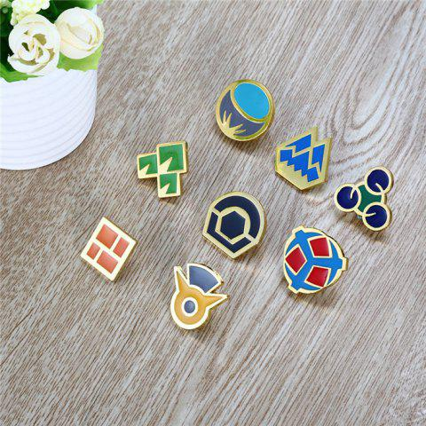 Outfit Alloy Badge Movie Product Children Gift Decoration - 8pcs / set - STYLE A COLORMIX Mobile
