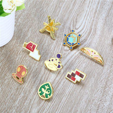 Affordable Alloy Badge Movie Product Children Gift Decoration - 8pcs / set - STYLE F COLORMIX Mobile