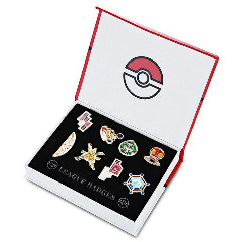 Discount Alloy Badge Movie Product Children Gift Decoration - 8pcs / set - STYLE F COLORMIX Mobile