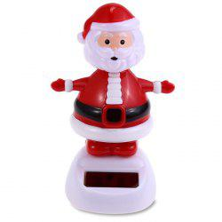 Solar Energy Shaking Santa Claus House Decoration Christmas Gift