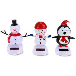 Énergie solaire Shaking Snowman House Decoration Christmas Gift - Blanc