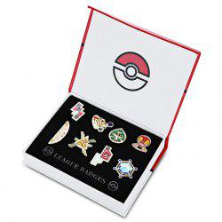 Alloy Badge Movie Product Children Gift Decoration - 8pcs / set - COLORMIX