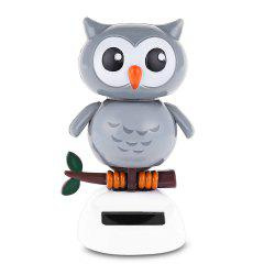 L'énergie solaire Shaking Owl House Decoration Christmas Gift - Multicolore