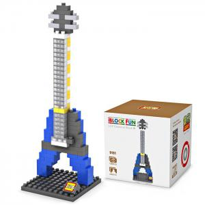 LOZ M - 9191 Mini Building Block Blue Electric Guitar Intelligent Toy 120Pcs / Set -