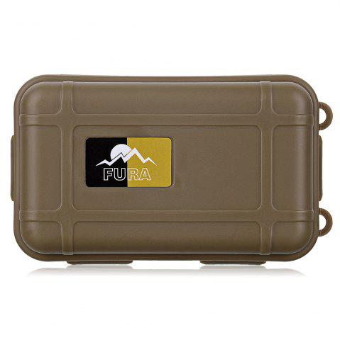 Hot FURA Small Water Resistant Sealed Storage Case Box Anti-shock Camping Gear - KHAKI  Mobile