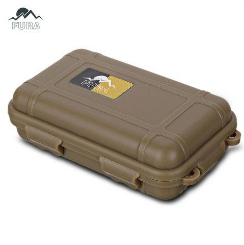 Affordable FURA Small Water Resistant Sealed Storage Case Box Anti-shock Camping Gear - KHAKI  Mobile