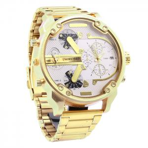 Shiweibao A3137 Double Movt Date Function Male Quartz Watch - WHITE