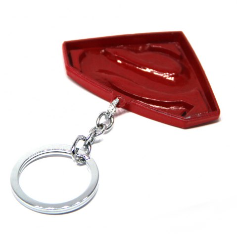 New Portable Superman Sign Metal Bulk Key Chain Cool Props - YELLOW AND RED  Mobile
