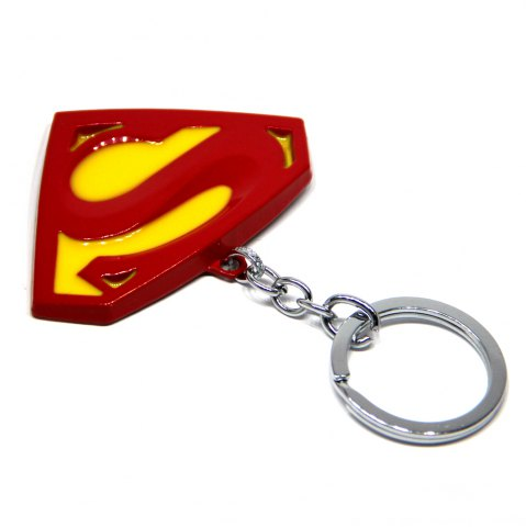 Best Portable Superman Sign Metal Bulk Key Chain Cool Props - YELLOW AND RED  Mobile