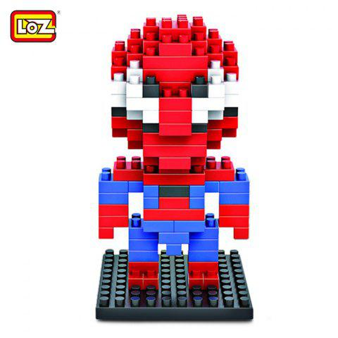 New LOZ 130Pcs Spider-man Building Block Creative ABS Material Kid Toy M - 9154