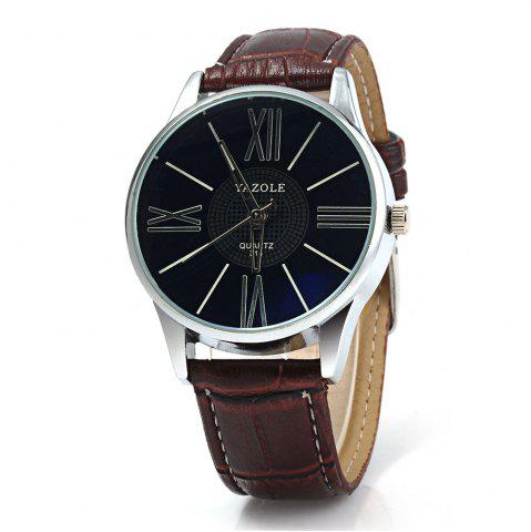 Shops Yazole 315 Quartz Watch with Leather Band for Men