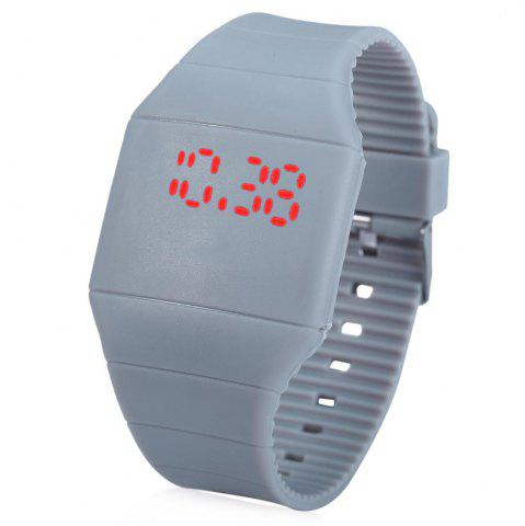 Shops Rubber Touch Screen Sport Watches with Red Display Time Rectangle Shape
