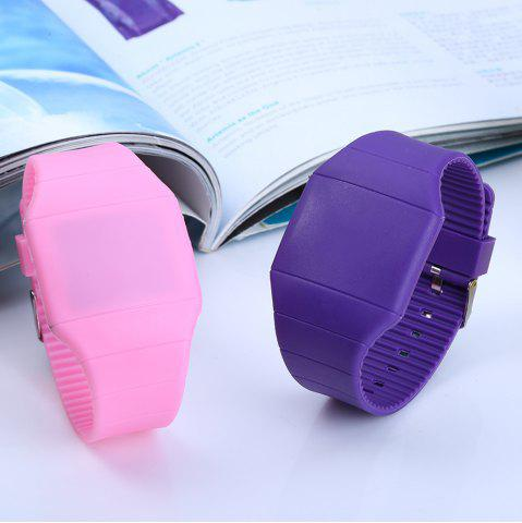 Buy Rubber Touch Screen Sport Watches with Red Display Time Rectangle Shape -   Mobile