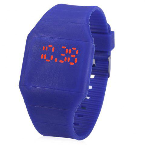 Sale Rubber Touch Screen Sport Watches with Red Display Time Rectangle Shape
