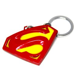 Portable Superman Sign Metal Bulk Key Chain Cool Props