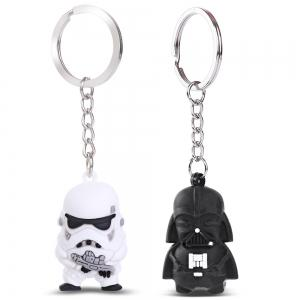 White Soldier Key Chain Hanging Pendant Movie Product Key Bag Decoration -