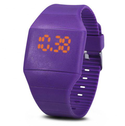 Outfits Rubber Touch Screen Sport Watches with Red Display Time Rectangle Shape