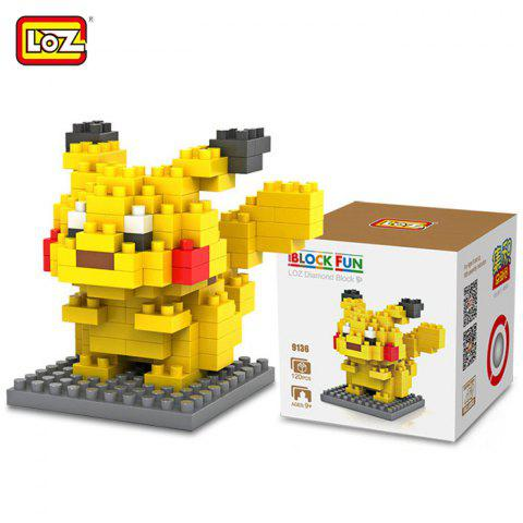Outfit LOZ 120Pcs M - 9136 Pokemon Pikachu Building Block Educational Kid Toy
