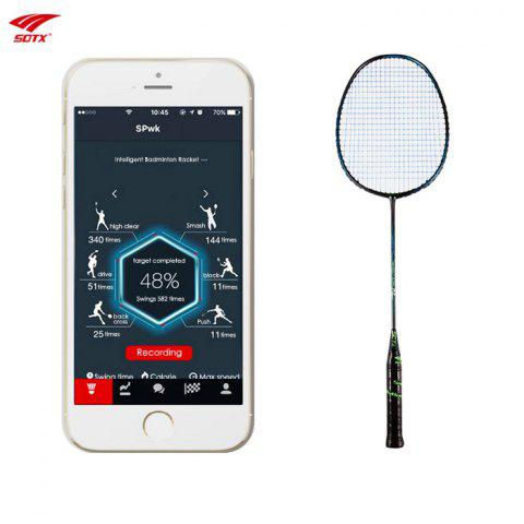 New Sotx A1B - Smart Ultralight Carbon Intelligent Badminton Racket with Built-in Chip 1pc - BLACK AND GREEN  Mobile