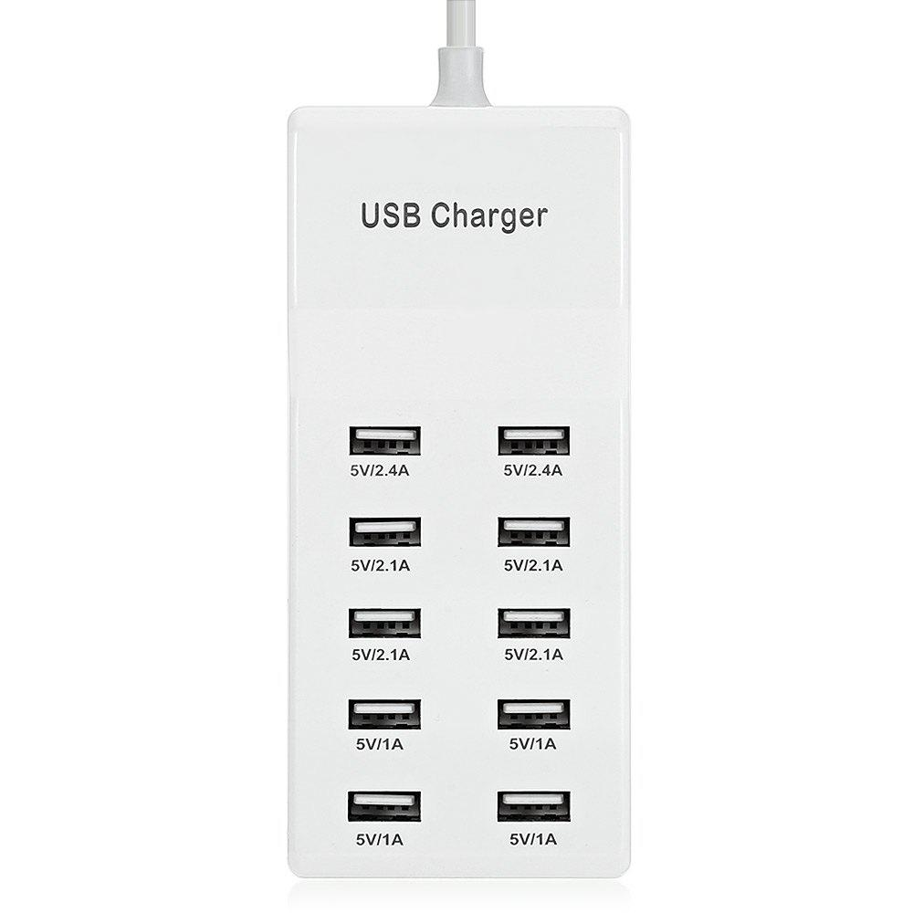 Buy Ten USB Power Adapter Wall Charger Dock Station Fast Charging
